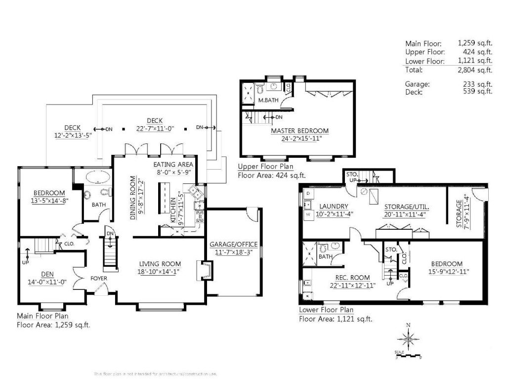 Example of floor plan