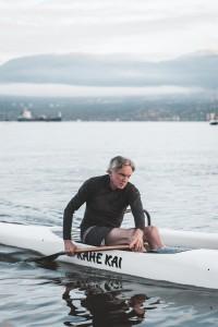 Don Urquhart paddling Kahe Kai
