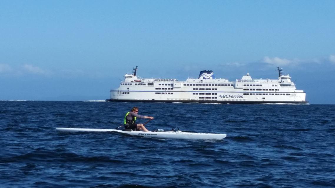 photo of Don Urquhart crossing the Georgia Strait