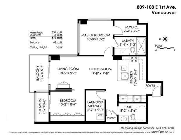 Mount Pleasant condo floor plan